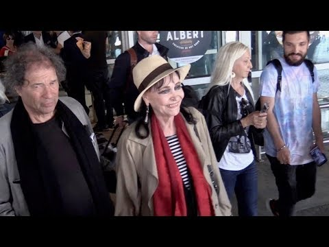 EXCLUSIVE : legendary actress Anna Karina arriving in Cannes