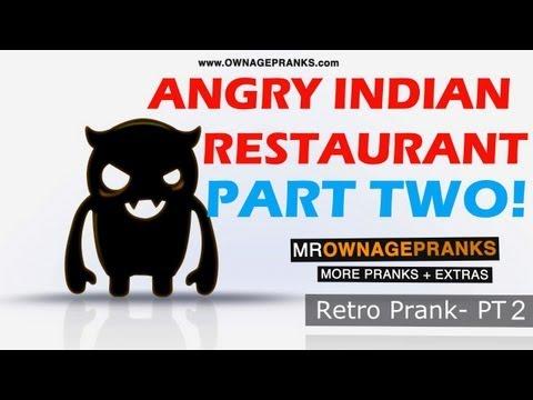 Retro Angry Indian PART 2 Restaurant Prank - Ownage Pranks