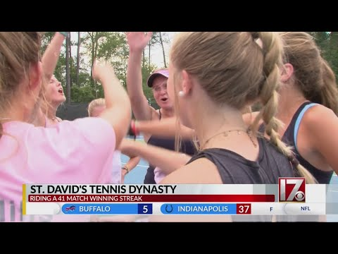 Tennis team at St. David's School in Raleigh aims for 7th state title
