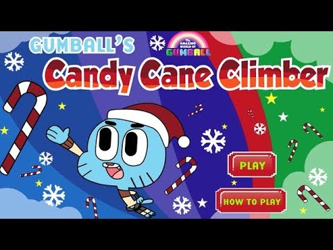 The Amazing World of Gumball - Gumball's Candy Cane Climber [Cartoon Network Games]