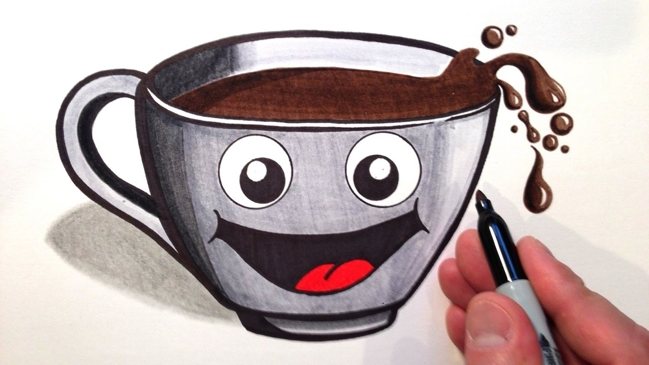 Cute A How Coffee To Cup Of Draw UzpMVqS