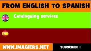 ESPAÑOL = INGLÉS = Servicios de catalogación