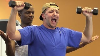 SCREAMING IN THE GYM ft. BigDawsTv