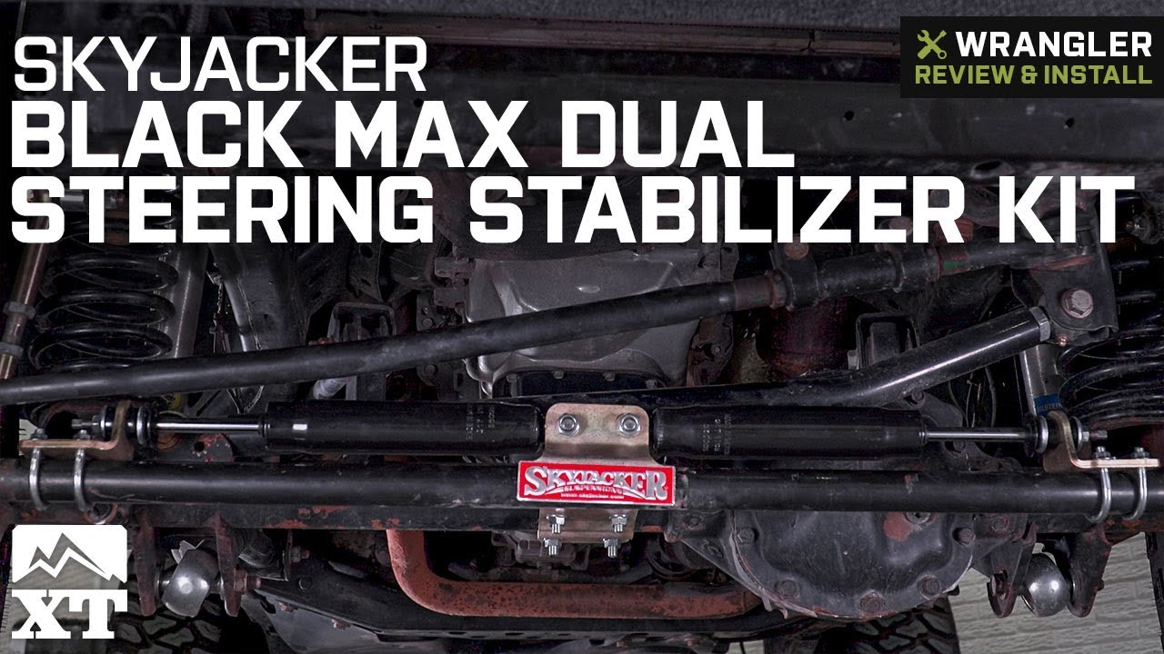 Jeep Wrangler SkyJacker Black MAX Dual Steering Stabilizer Kit (2007-2018  JK) Review & Install