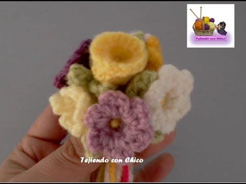 Tutorial flor crochet (mod-1) - YouTube