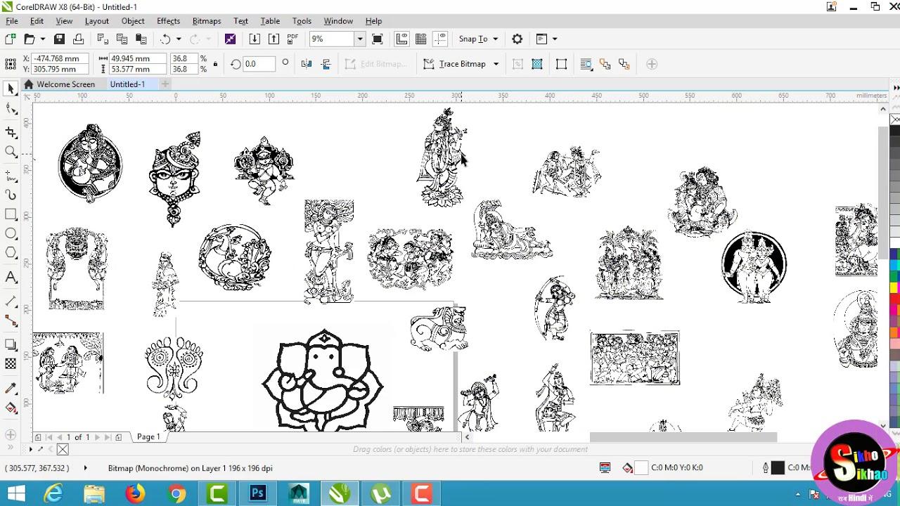 small resolution of corel draw wedding card clipart hindi video tutorial