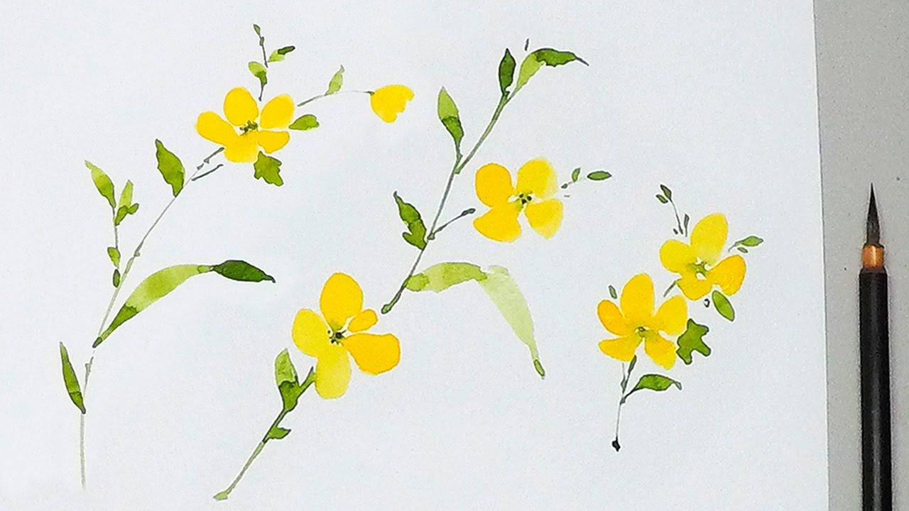 Lvl2 watercolor tutorial how to paint yellow flowers youtube lvl2 watercolor tutorial how to paint yellow flowers youtube mightylinksfo