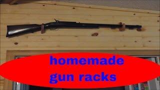 simple diy wood projects. diy gun racks for the home decor.