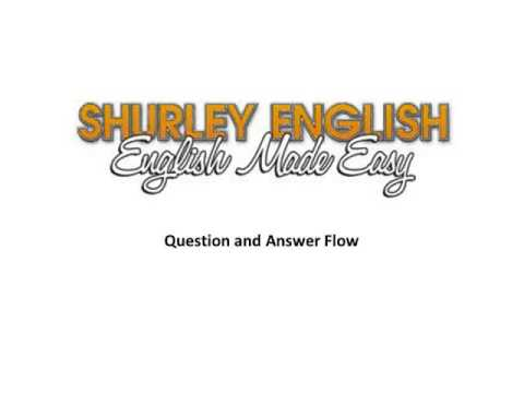 Question And Answer Flow Shurley English