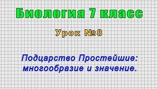 Биология 7 класс (Урок№8 - Подцарство Простейшие: многообразие и значение.)