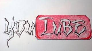 How To Draw You Tube Letters (Cholo Font)