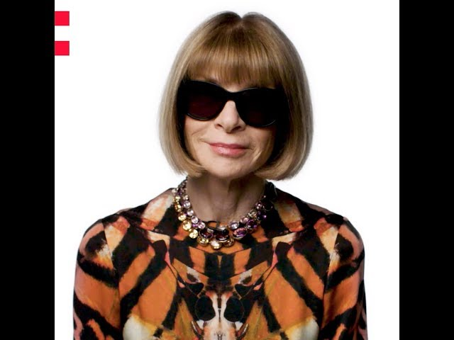 Frame of a video of Anna Wintour speaking about the Odyssey project