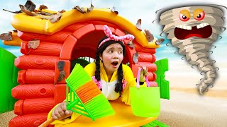 This Is The Way We Wash The Playhouse | Kids Song with Linda