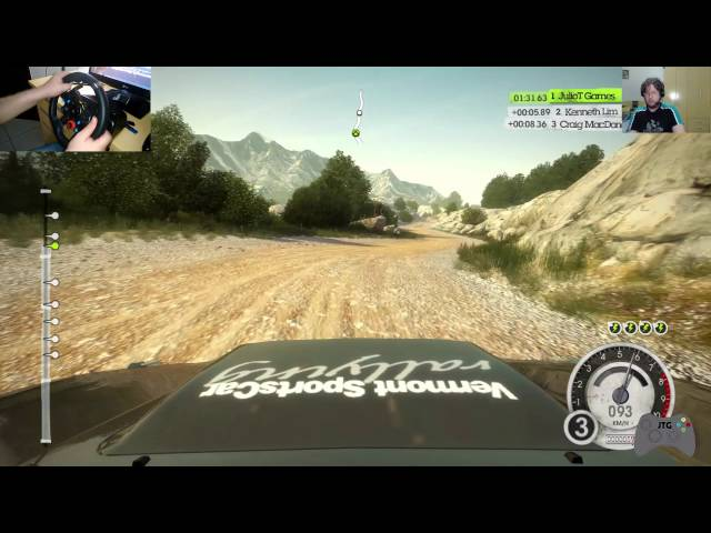 Dirt 2 Gameplay no PC (Inicio da Campanha) com Logitech G29 + Face cam Logitech C920