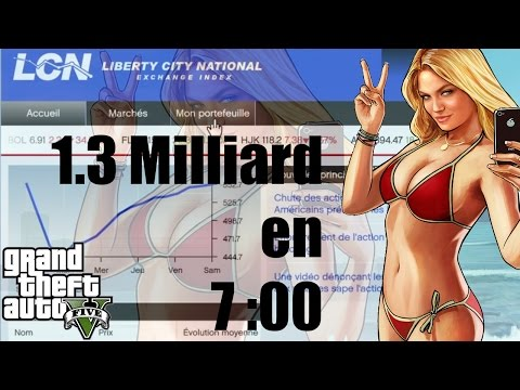 [GTA V] 🎮 Comment gagner 1,3 milliard 💵 💰💰 à la bourse en 7 min (No cheat)