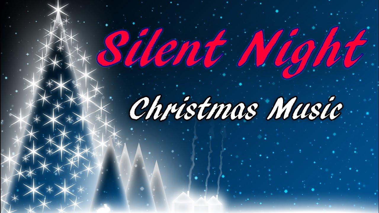 SILENT NIGHT - Christmas Carol - Video Music Holiday Song w/Lyrics 🎵 - YouTube
