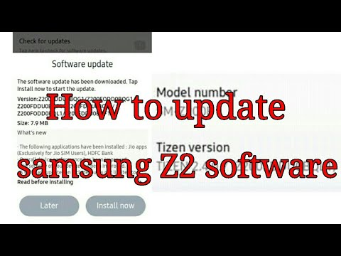 How to update samsung Z2 software