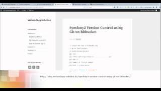 Symfony2 version control git on bitbucket
