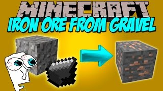 IRON ORE FOR GRAVEL MOD - De Grava a Hierro!!! - Minecraft mod 1.7.10 Review ESPAÑOL