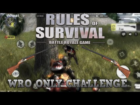 WRO Only Gameplay - solo win (Rules of Survival)