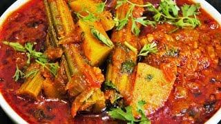 शवग बटट रसस   Shevaga Batata Bhaji  Aloo Drumsticks Curry  madhurasrecipe