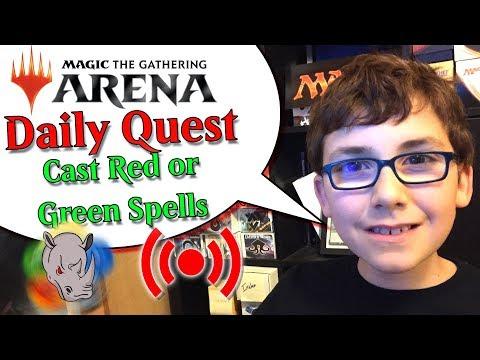 🎮 MTG Arena Daily Quest - Just casting spells