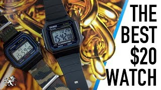 Rebirth Of A Classic - The $20 Larger Casio F91W - W217H Watch Review
