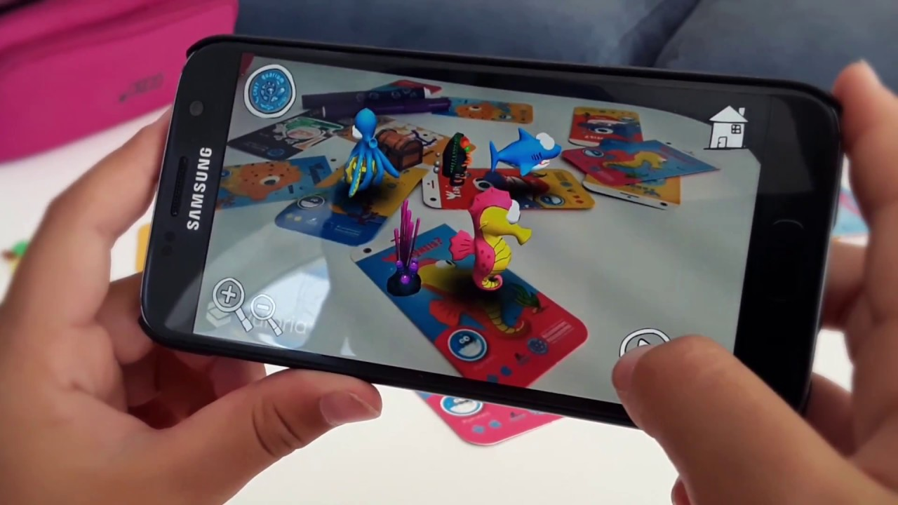 Psaroneis Augmented reality 3D coloring app - Live Texturing AR cartoon characters - επαυξημένης ...
