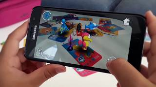 Psaroneis Augmented-reality-3D coloring app - Live-Texturierung AR-cartoon-Figuren - επαυξημένης πρ