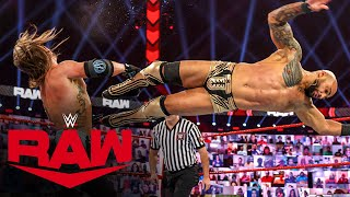 Ricochet vs AJ Styles Raw Jan 18 2021