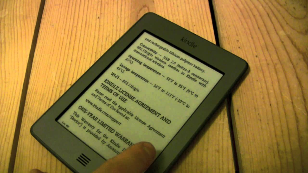 Kindle Touch Ghosting - Refresh rate and ghost characters on the screen