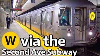 ⁴ᴷ W Trains Rerouted to the Second Avenue Subway