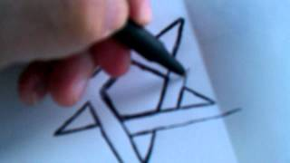 How To Draw a Pentacle Symbol 3D