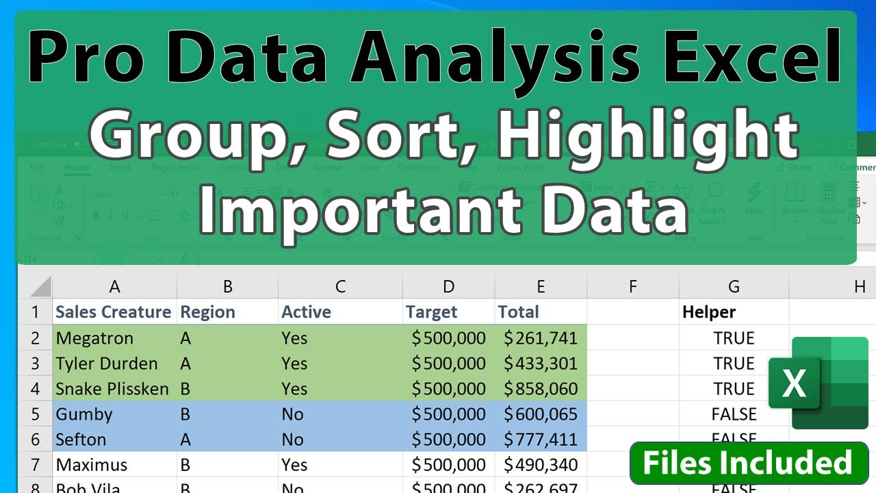 Advanced Excel Analysis Tip: Highlight Sort and Group the Top / Bottom Performers in a List in Excel