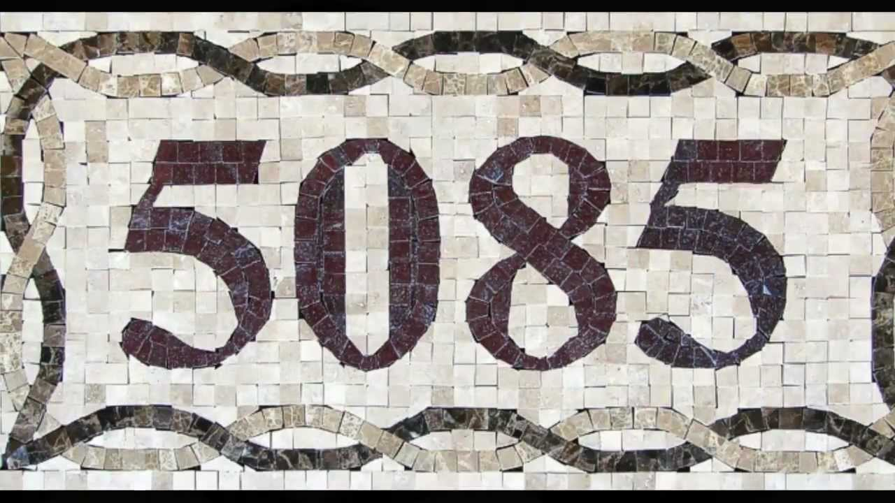 mosaic tile, house numbers - youtube