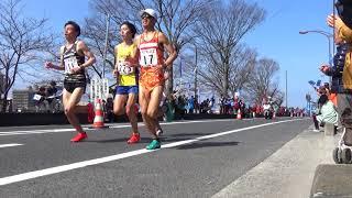 2018.3.4 びわ湖毎日マラソン 23km地点 窪田忍、村山謙太、野口拓也選手ら通過