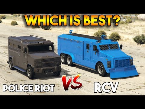 GTA 5 ONLINE : RCV vs POLICE RIOT (WHICH IS BEST?)
