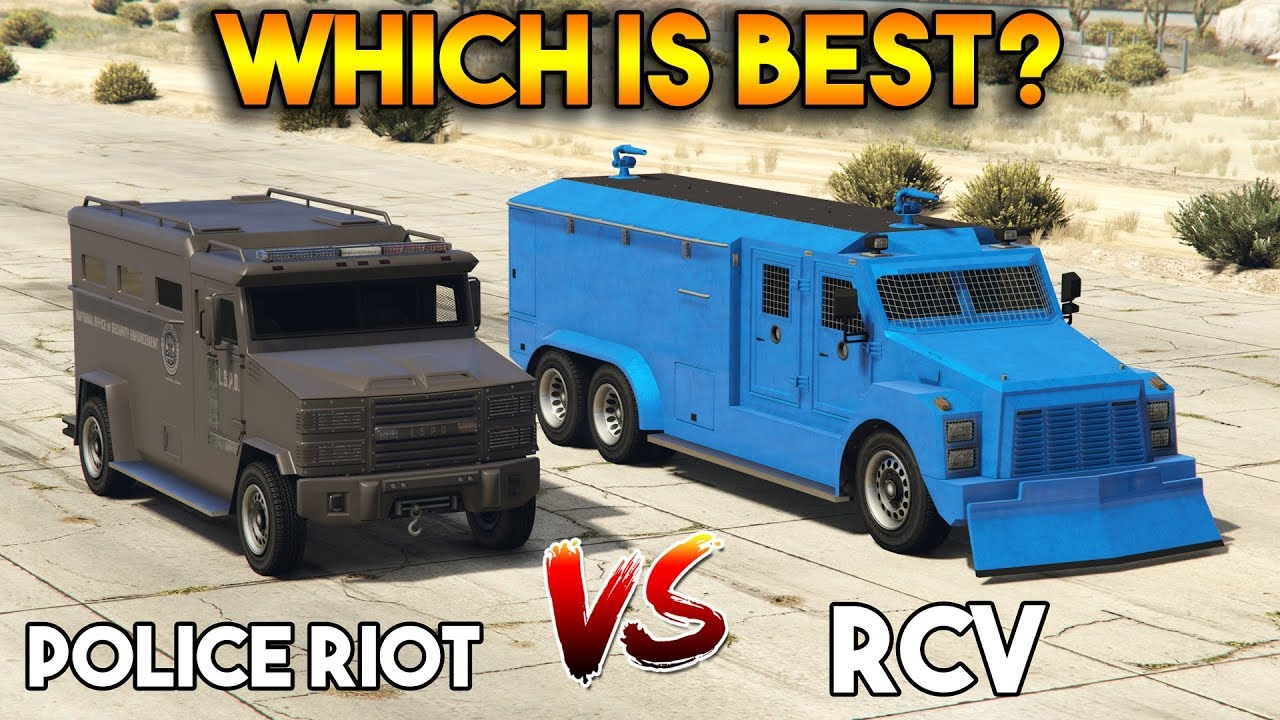 Download GTA 5 ONLINE : RCV vs POLICE RIOT (WHICH IS BEST?)