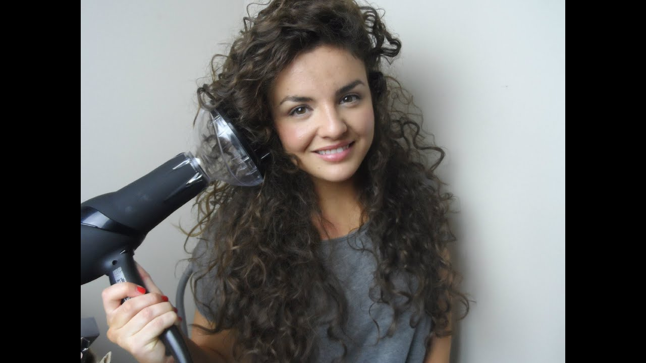 How To Diffuse Curly Hair  YouTube