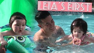 Baby's First Time Swimming!!!