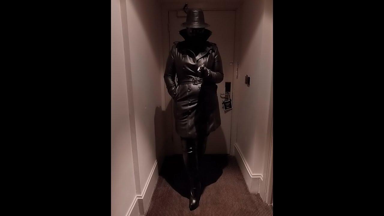 Black leather femdom