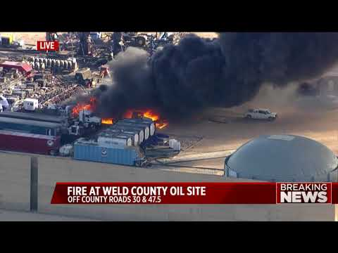 Fire at Weld County oil site