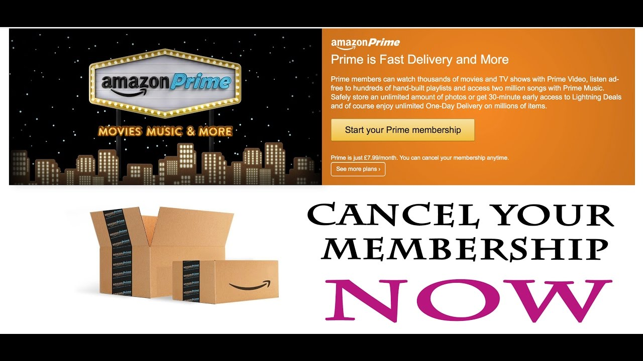 how to cancel amazon prime membership solution youtube. Black Bedroom Furniture Sets. Home Design Ideas
