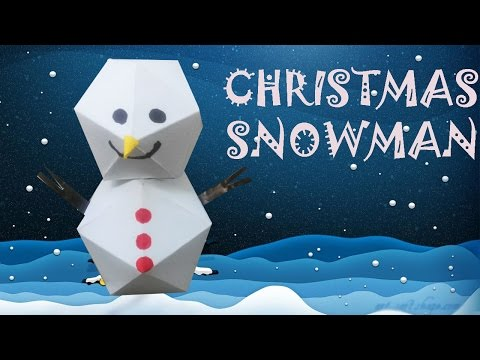 Paper Snowman - Origami Easy