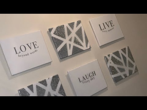LAUGH, LIVE, LOVE CANVAS DIY USING A CRICUT W/EPOXY FINISH|WALL DECOR|ABSTRACT  WALL ART|CRICUT DIY|