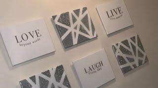 Laugh, Live, Love Canvas Diy Using A Cricut W/epoxy Finish wall Decor abstract Wall Art cricut Diy 