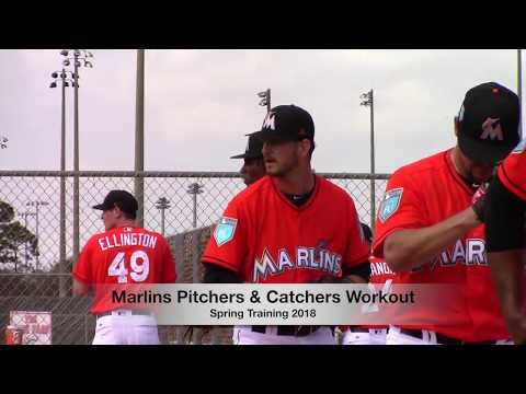 Miami Marlins - Spring Training 2018 Pitchers & Catchers Workout