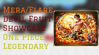 Mera/Flare Devil Fruit Showcase | One Piece Legendary Roblox | ConFuseeed