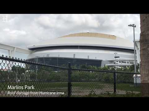 Irma hits Marlins Park, AmericanAirlines Arena