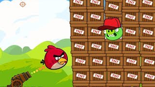 Angry Birds Collection Birds 1 - CANNON SHOOT ONE BIRD TO 1000 TNT PIGGIES BLASTING!